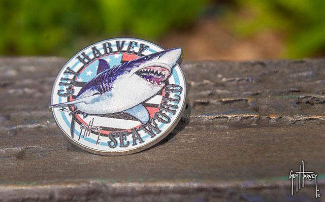 Guy Harvey Shark USA Pin