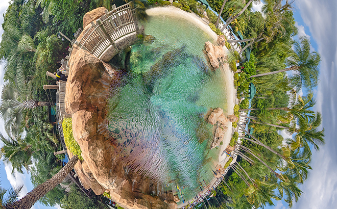 Tiny Planet of Discovery Cove