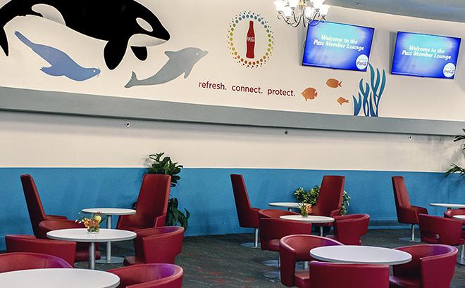 Pass Member Lounge at SeaWorld Orlando