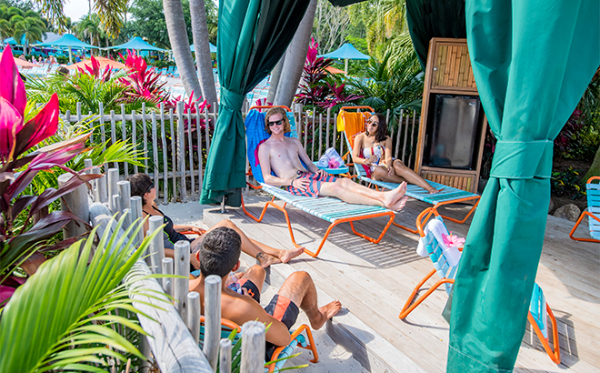Beachfront Cabanas at Aquatica Orlando