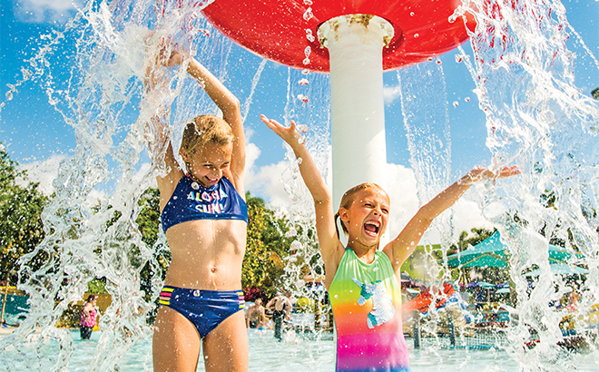 Walkabout Waters Children's Play Area at Aquatica Orlando