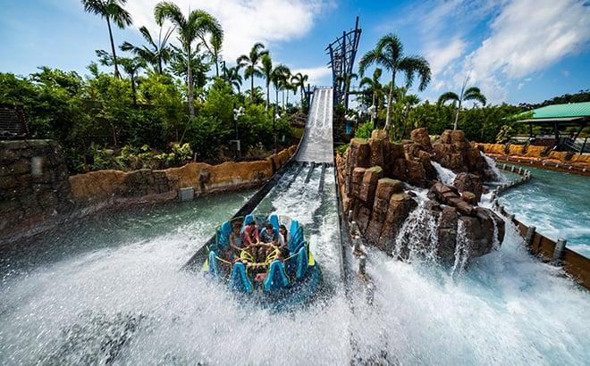 Ride Infinity Falls at SeaWorld Orlando
