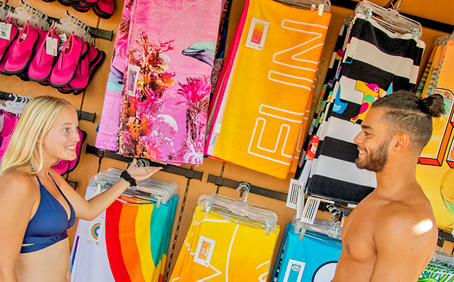 Shopping at Kiwi Traders
