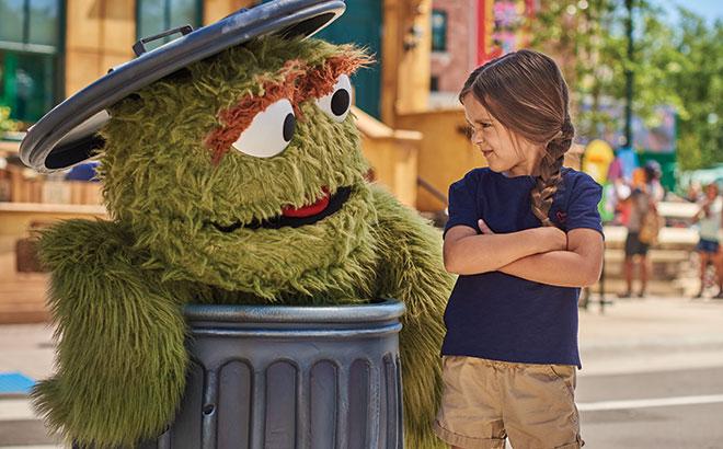 Meet Oscar at Sesame Street at SeaWorld Orlando