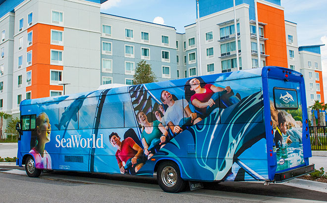 SeaWorld Bus at Official Hotel Partner
