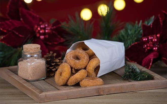 Christmas Cinnamon and Sugar Donuts