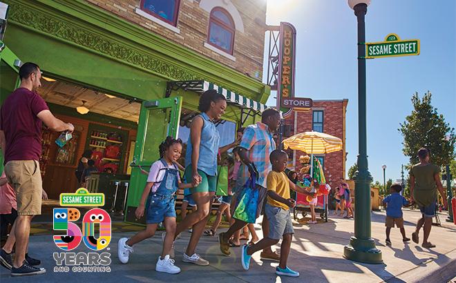 Sesame Street Land at SeaWorld Orlando - Hoopers Store, 50th Anniversary
