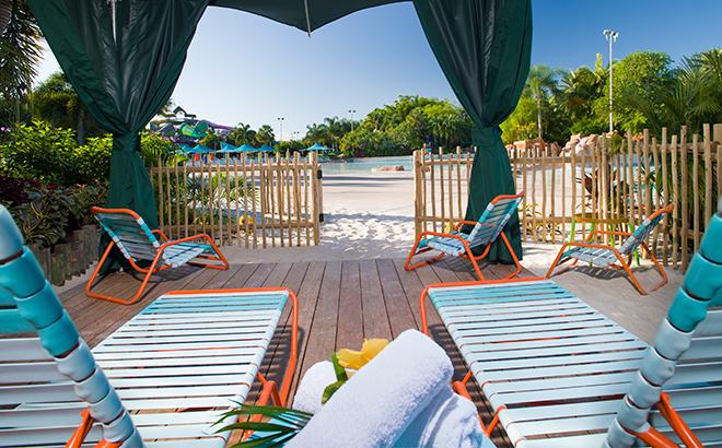 Beachfront Cabana at Aquatica Orlando