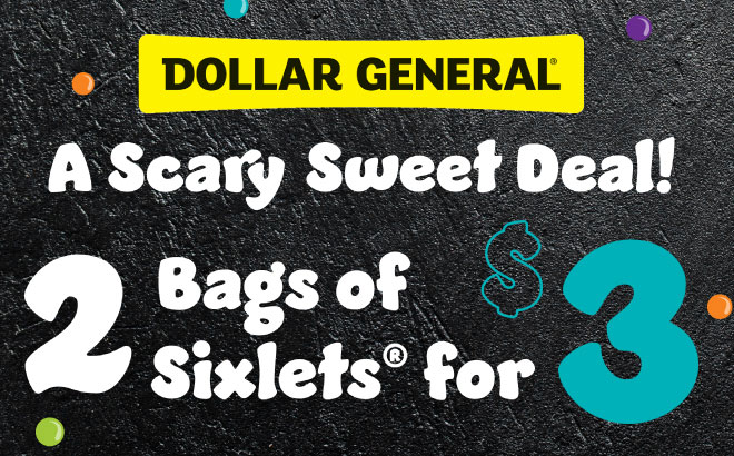 2 Bags of Sixlets for $3 at Dollar General