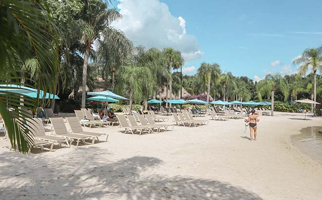 Enjoy beautiful beaches at Discovery Cove Orlando