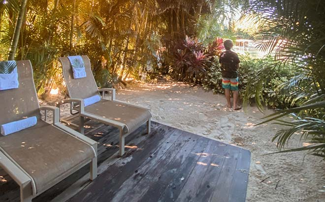 Private cabana areas at Discovery Cove Orlando