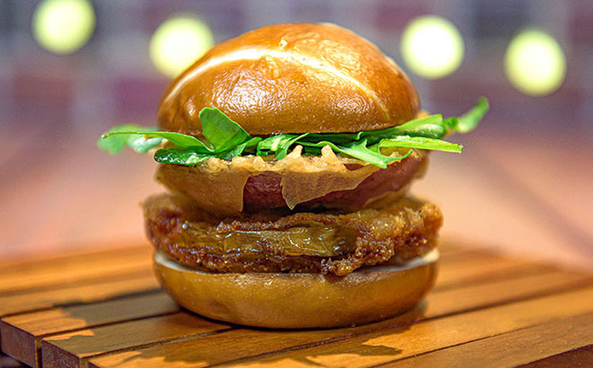 Fried Green Tomato Slider at Craft Beer Festival SeaWorld