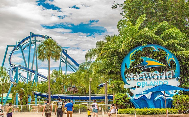 SeaWorld Orlando Park Entrance Sign