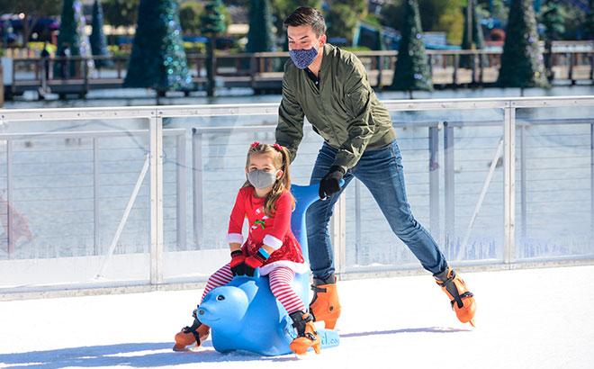 Ice Skating at SeaWorld Orlando