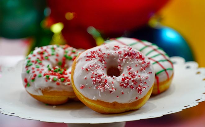 Christmas Donuts available during SeaWorld Orlando Christmas Celebration