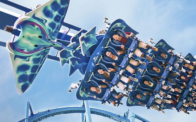 SeaWorld Orlando's Manta Roller Coaster