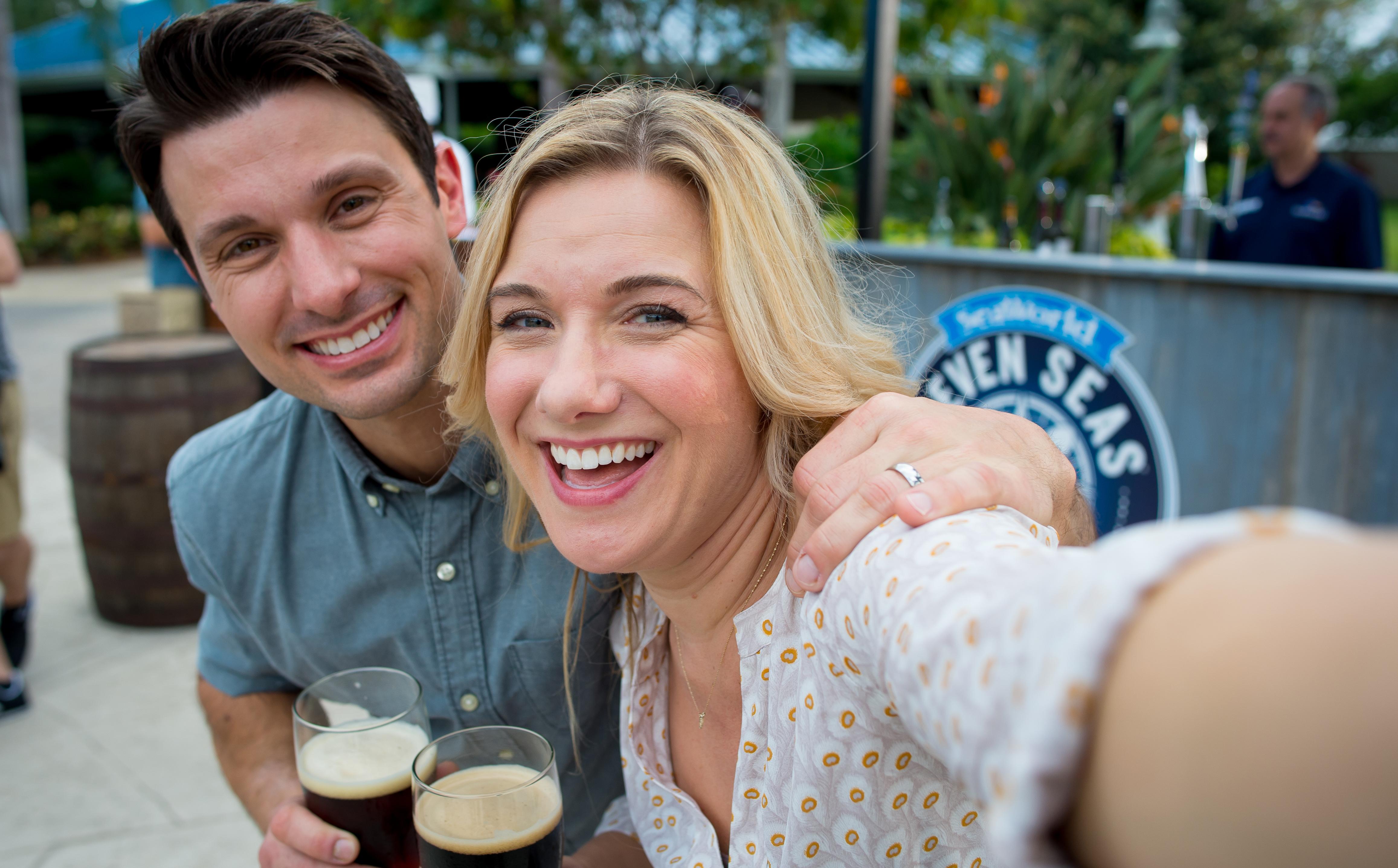 Couple Enjoying Beverages at SeaWorld Orlando