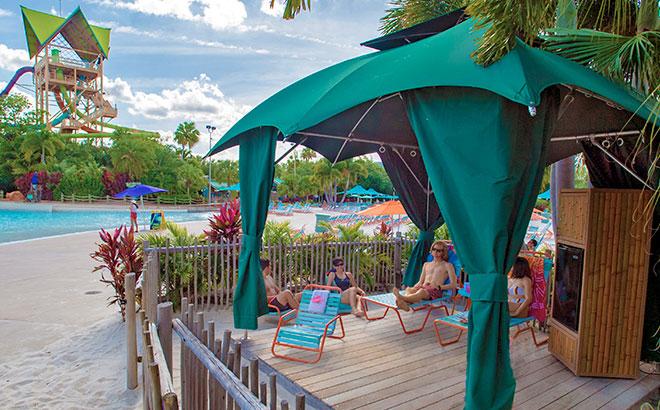 Reserve a private cabana for the day at Aquatica Orlando