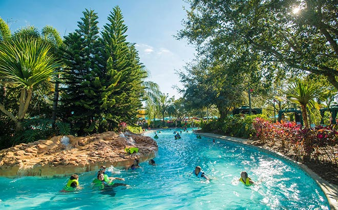 The pools and waterways at Aquatica Orlando