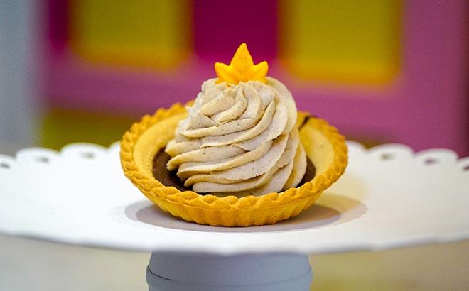 Pumpkin Mousse Tart available during SeaWorld Orlando Christmas Celebration