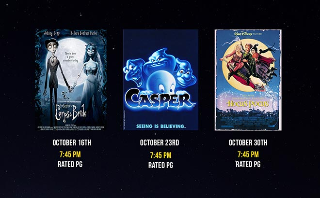 SeaWorld Flicks and Frights Movie Lineup