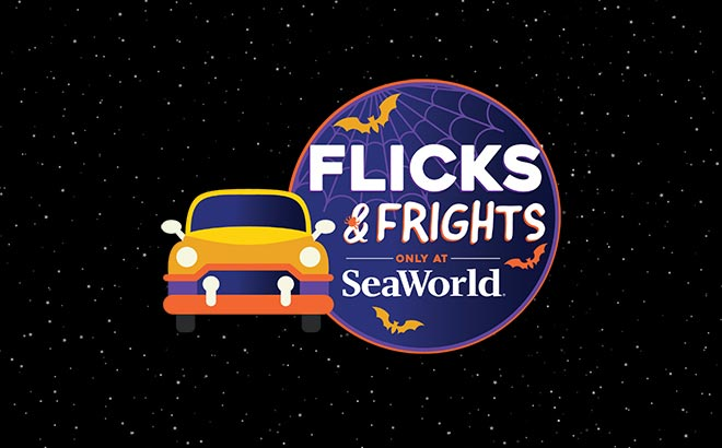 Halloween movies under the stars at SeaWorld Flicks & Frights drive in movie event