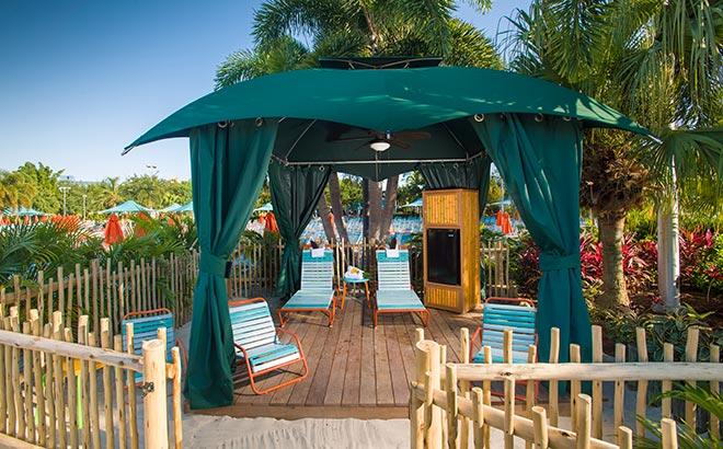 Reserve a Cabana during your day at Aquatica Orlando
