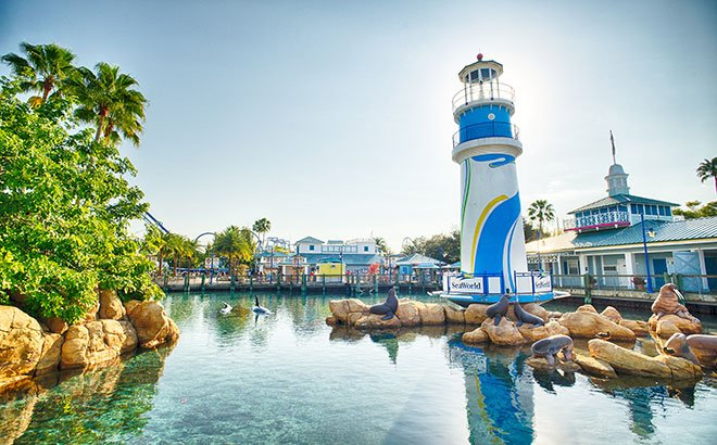 SeaWorld Orlando Front Entrance Lighthouse
