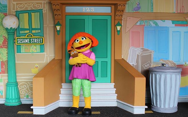Meet Julia at Sesame Street Land at SeaWorld Orlando