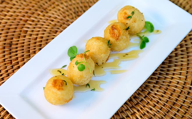Goat Cheese Croquettes available during SeaWorld Seven Seas Food Festival