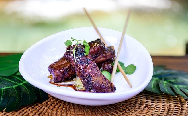 Korean BBQ Lamb Ribs available during SeaWorld Seven Seas Food Festival