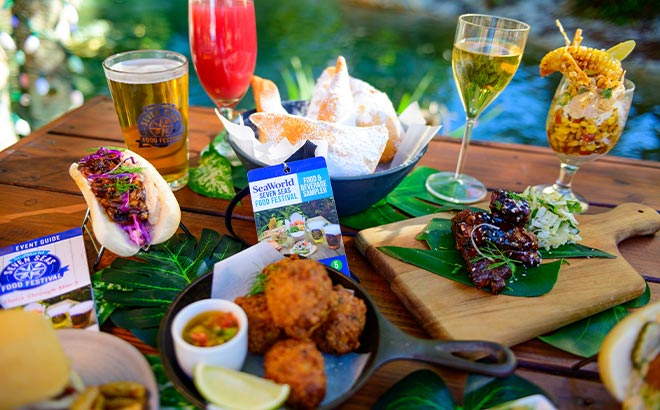 Food and Beverages available during SeaWorld Orlando Seven Seas Food Festival