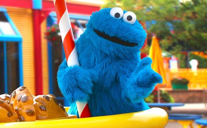 Grover at Sesame Street Land at SeaWorld