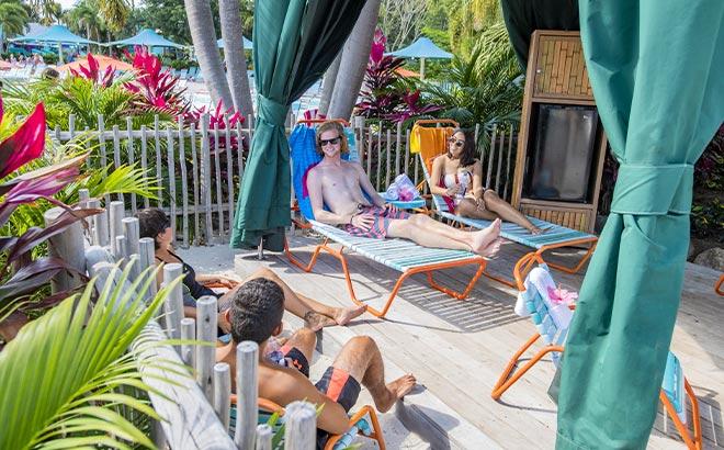 Private cabana at Aquatica Orlando