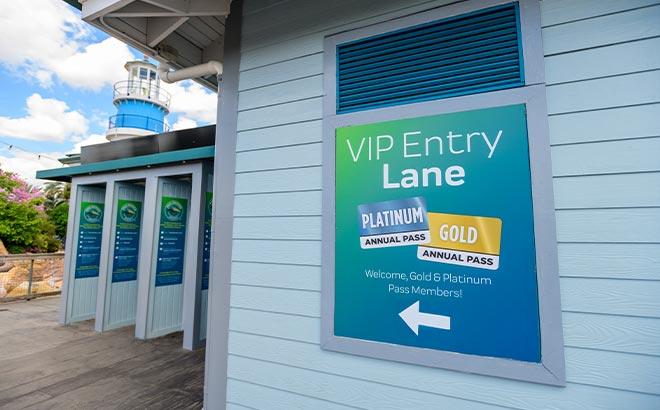 Gold and Platinum Pass Member Entry Lane at SeaWorld Orlando