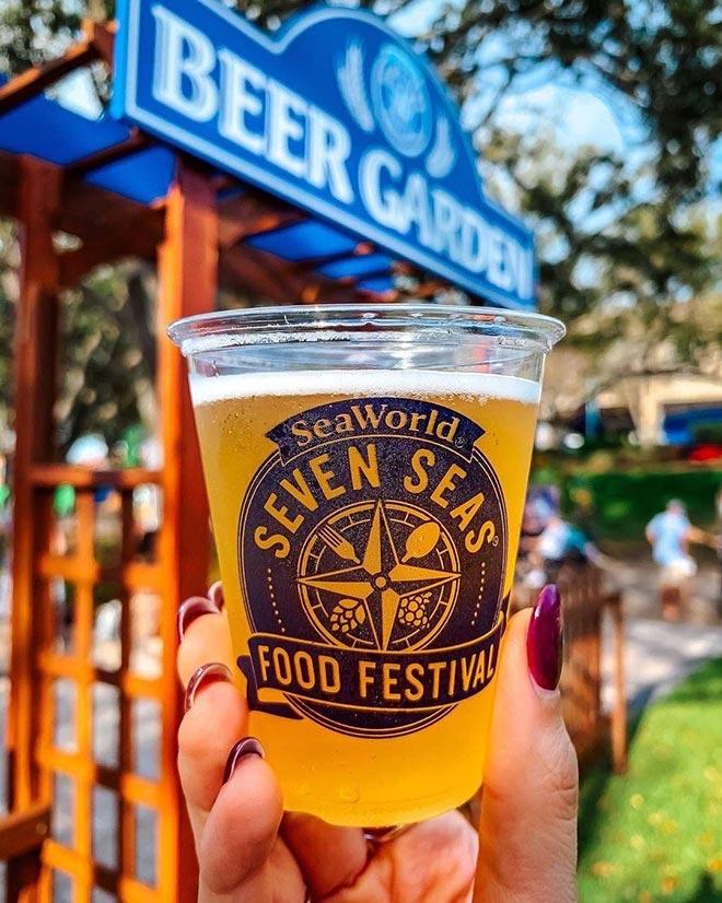 Beer Garden at Seaworld Seven Seas Food Festival