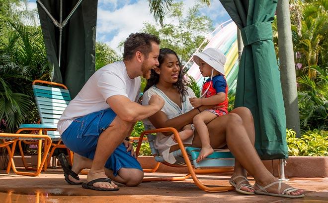Family in a Cabana