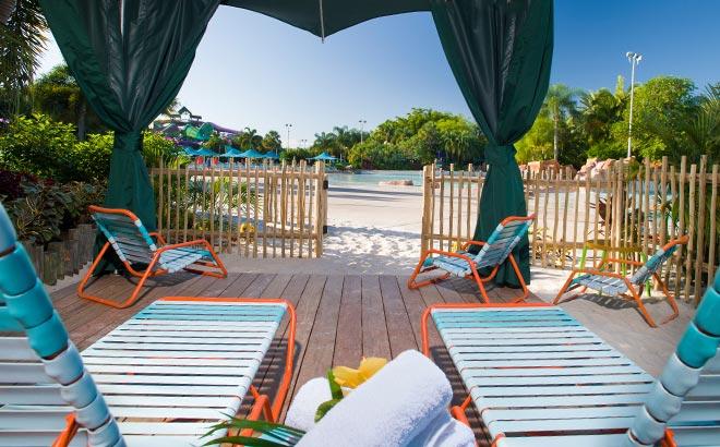 Private cabanas at Aquatica Orlando