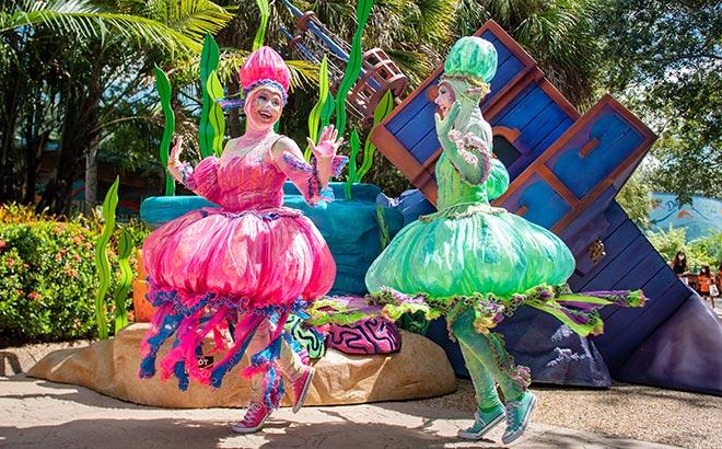 Live entertainment during SeaWorld Orlando Halloween Spooktacular