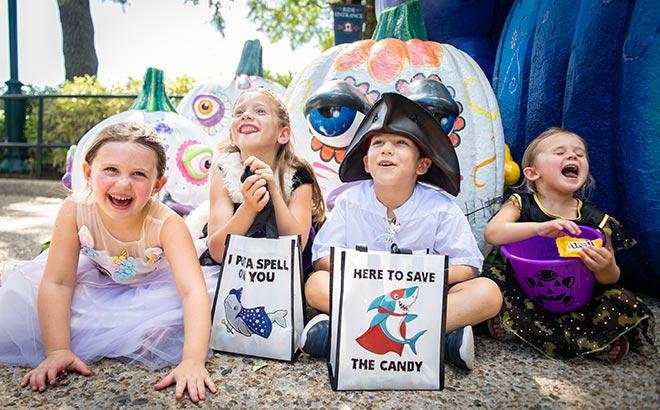 Kids at SeaWorld Orlando Halloween Spooktacular