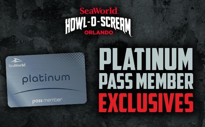 SeaWorld Orlando Howl-O-Scream Platinum Pass Member Exclusives