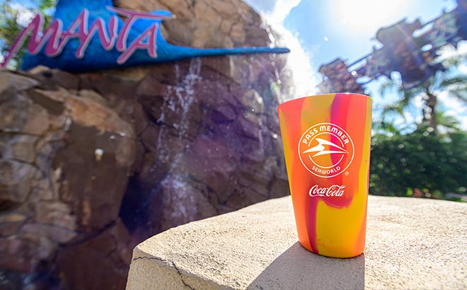 SeaWorld Orlando Pass Member Silicone Pint Cup