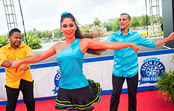 Watch amazing live performances at the Seven Seas Food Festival