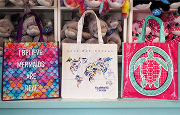 Reusable Bags at SeaWorld