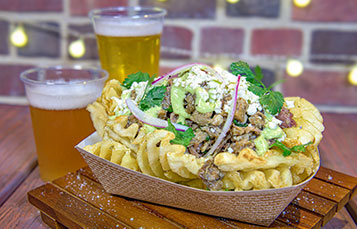 Mojo Pork Waffle Potato Nachos at Craft Beer Festival SeaWorld
