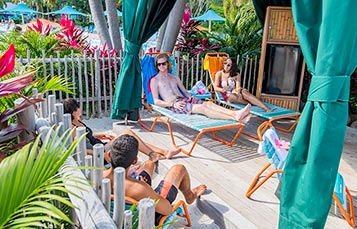 Rent a Private Cabana during your day at Aquatica Orlando