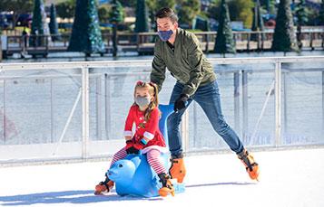 Enjoy Ice Skating and more at SeaWorld Orlandos Christmas Celebration