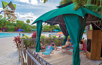 Reserve a private cabana for the day at Aquatica Orlando