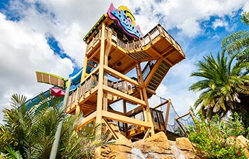 Aquatica Orlando Slide Tower