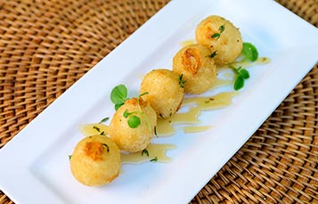 Goats Cheese Croquettes at SeaWorld Orlando Seven Seas Food Festival